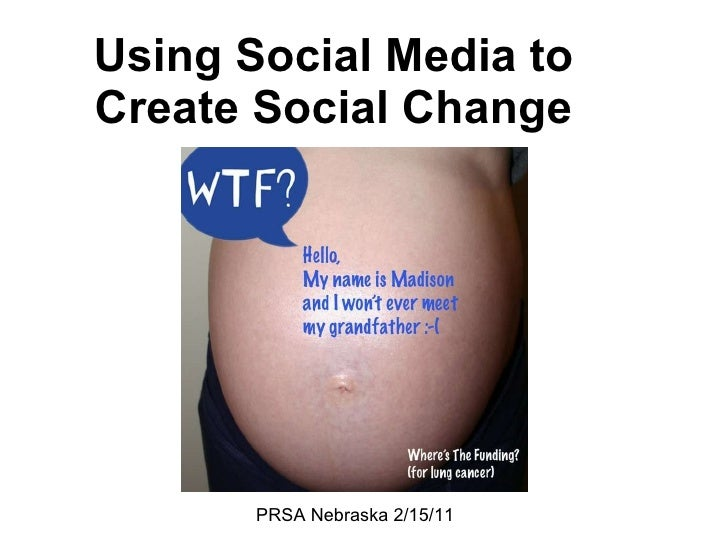 Using Social Media to Create Social Change