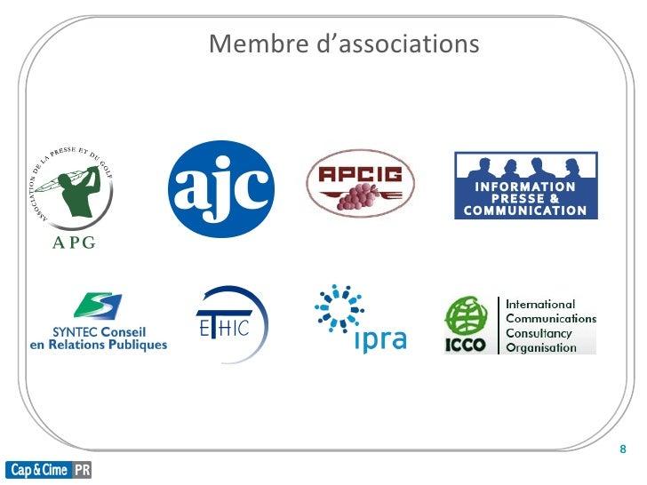 Membre d'associations                            8