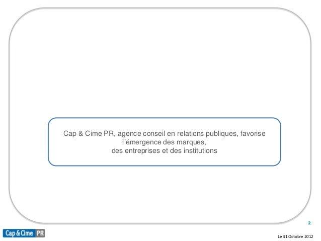 PréS. Cap&Cime Pr  Base Octobre 2012 Slide 2
