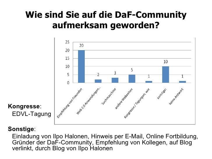 Wie sind Sie auf die DaF-Community aufmerksam geworden? Kongresse : EDVL-Tagung Sonstige : Einladung von Ilpo Halonen, Hin...