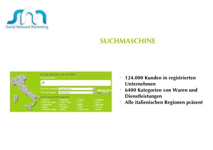 <ul><li>124.000 Kunden in registrierten Unternehmen  </li></ul><ul><li>6400 Kategorien von Waren und Dienstleistungen  </l...