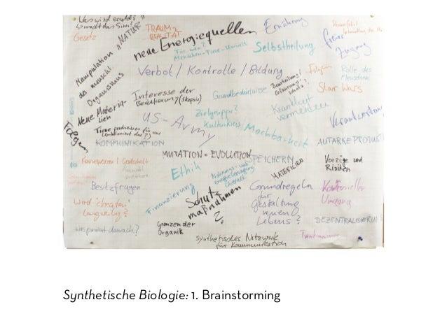 Synthetische Biologie: 1. Brainstorming