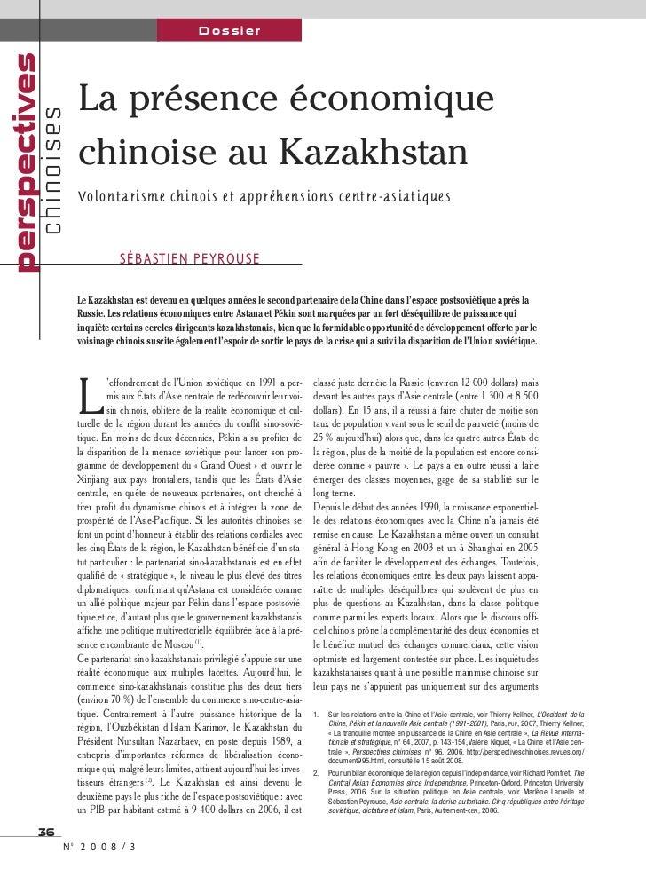 perspectives                                             Dossier                       La présence économique           ch...