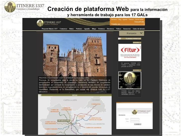 Creación de plataforma Web  para la información y herramienta de trabajo para los 17 GALs