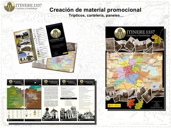 Creación de material promocional  Trípticos, cartelería, paneles…