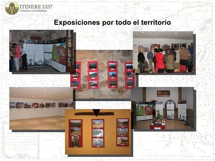 Exposiciones por todo el territorio
