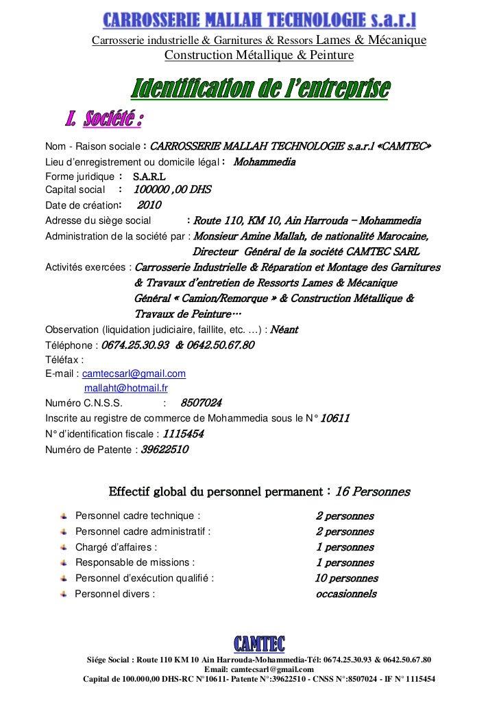 Carrosserie industrielle & Garnitures & Ressors Lames & Mécanique                                Construction Métallique &...