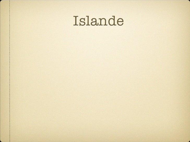 Islande Profite de sa situation géorgraphique: rencontre de plats tectoniques → activités sismiques et volcaniques  La géot...