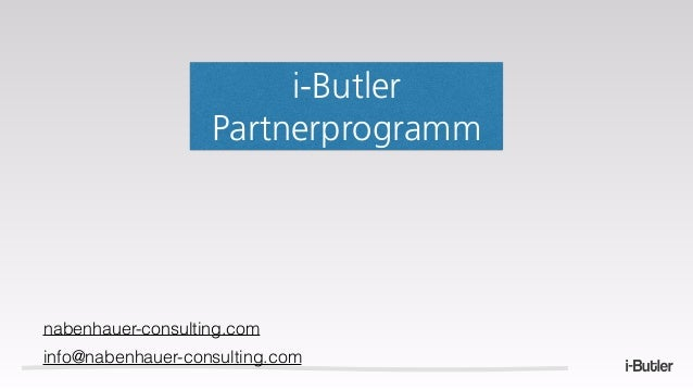 i-Butler Partnerprogramm nabenhauer-consulting.com info@nabenhauer-consulting.com