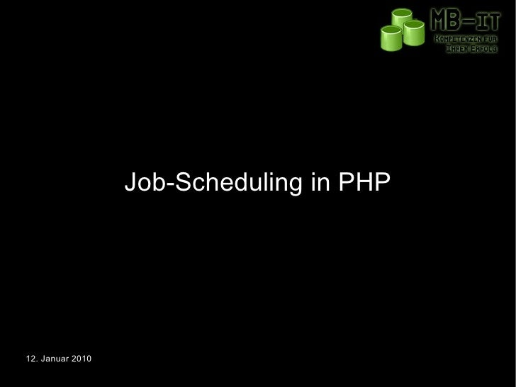 Job-Scheduling in PHP