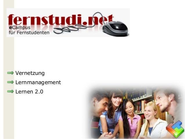Vernetzung Lernmanagement Lernen 2.0