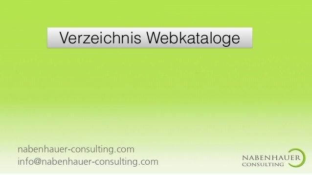 Verzeichnis Webkataloge