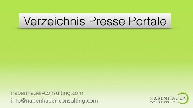 Verzeichnis Presse Portale