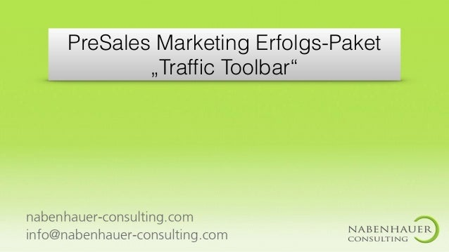 "PreSales Marketing Erfolgs-Paket ""Traffic Toolbar"""
