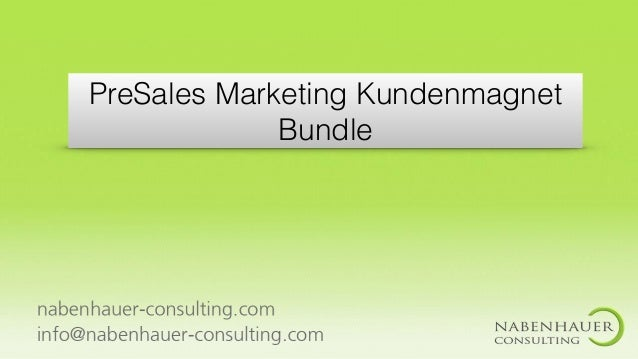 PreSales Marketing Kundenmagnet Bundle