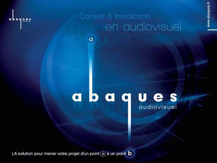 Abaques Audiovisuel2 activités complémentaires             Solutions Audiovisuelles                 pour l'évènementiel   ...