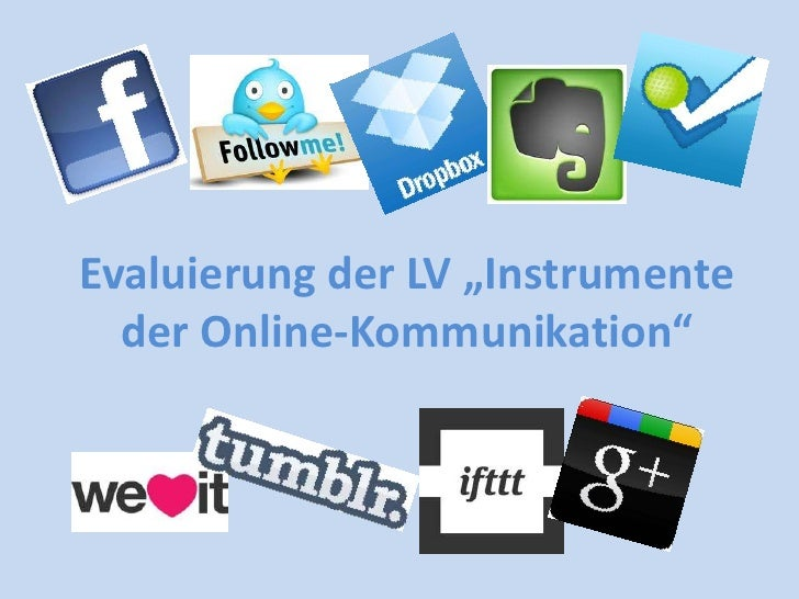 """Evaluierung der LV """"Instrumente  der Online-Kommunikation"""""""