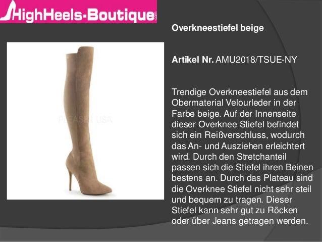 Hellbeige Overknee Stiefel aus Leder kombinieren (3