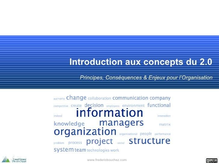 Introduction aux concepts du 2.0 Principes, Conséquences & Enjeux pour l'Organisation