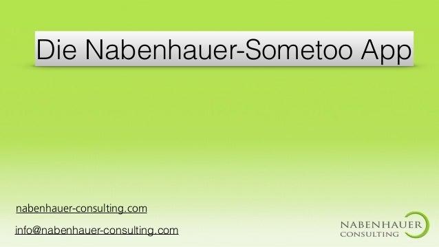 Die Nabenhauer-Sometoo App nabenhauer-consulting.com info@nabenhauer-consulting.com