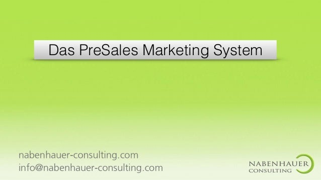 Das PreSales Marketing System