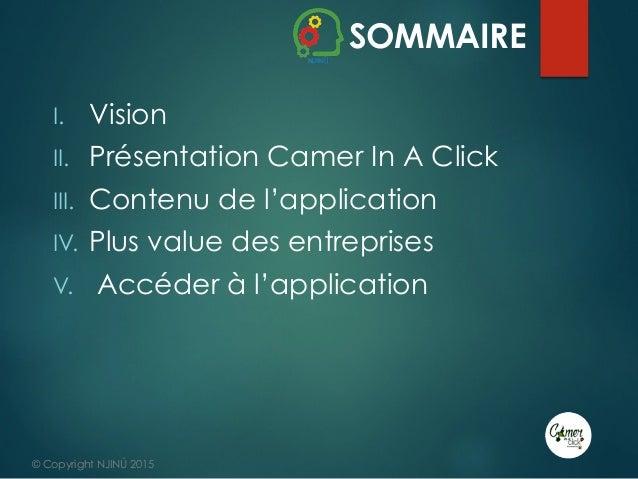 Présentation du projet CAMER IN A CLICK - #DigitalThursday #Edition9 Slide 2
