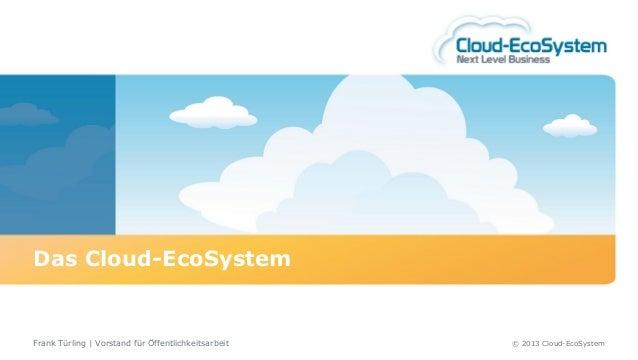Das Cloud-EcoSystemFrank Türling | Vorstand für Öffentlichkeitsarbeit   © 2013 Cloud-EcoSystem