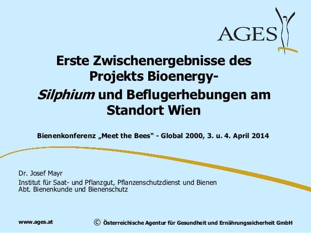 © Österreichische Agentur für Gesundheit und Ernährungssicherheit GmbHwww.ages.at Erste Zwischenergebnisse des Projekts Bi...