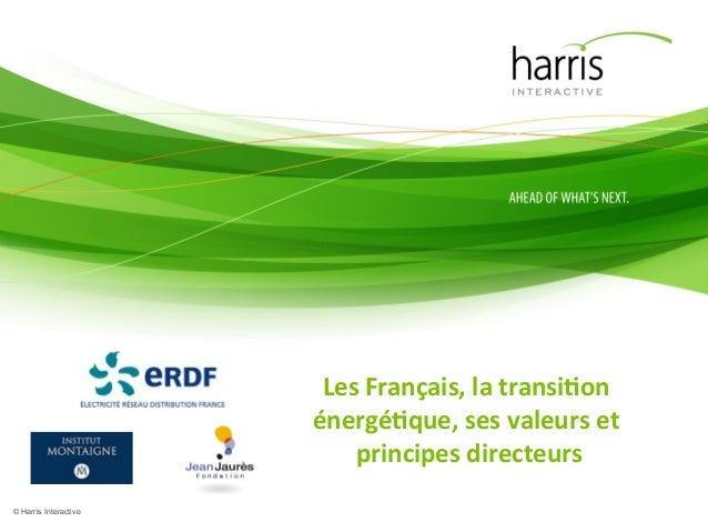 Les  Français,  la  transi.on   énergé.que,  ses  valeurs  et   principes  directeurs    © Harris Inte...