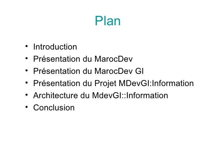 PréSentation Du Projet MarocDevGI::Information Slide 2