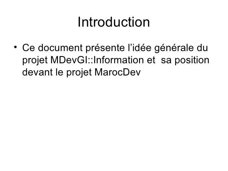 PréSentation Du Projet MarocDevGI::Information Slide 3