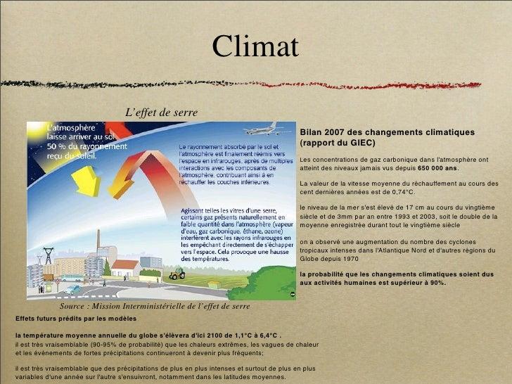Climat                                     L'effet de serre                                                               ...