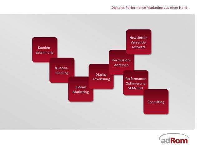 Digitales Performance Marketing aus einer Hand.                                                           Newsletter-     ...