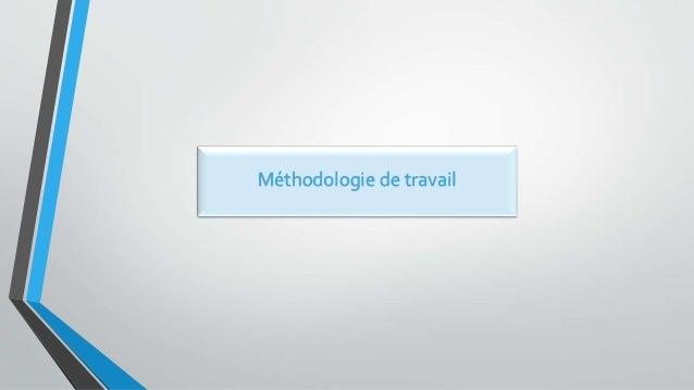 Méthodologie de travail