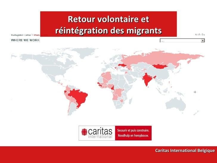Retour volontaire et réintégration des migrants Caritas International Belgique