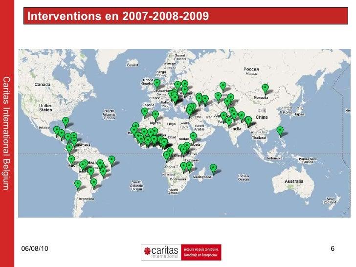 Interventions en 2007-2008-2009  Caritas International Belgium