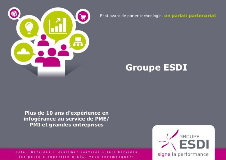 Et si avant de parler technologie, on parlait partenariat                                       Groupe ESDI Plus de 10 ans...