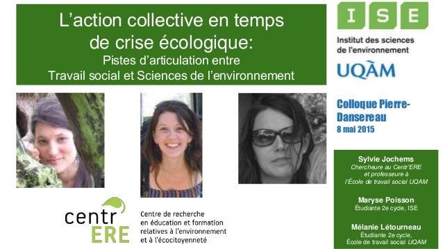 L'action collective en temps de crise écologique: Pistes d'articulation entre Travail social et Sciences de l'environnemen...