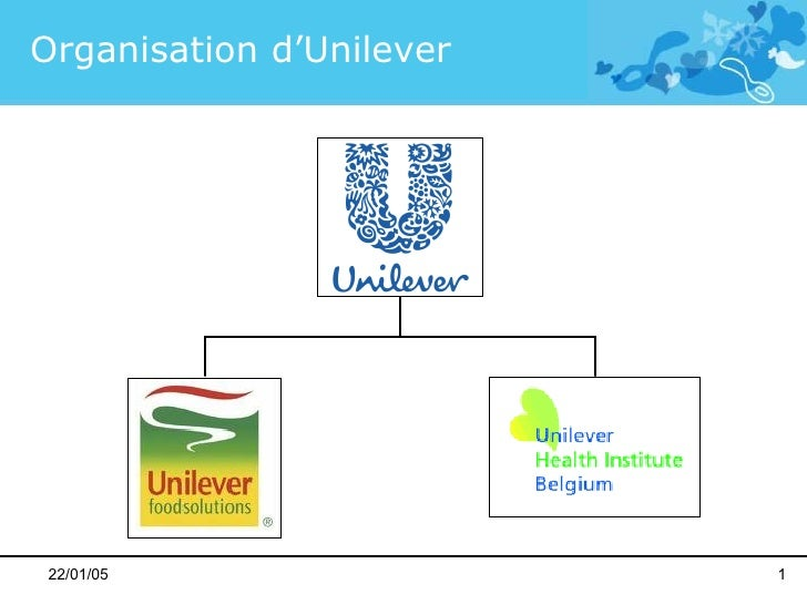 22/01/05 Organisation d'Unilever