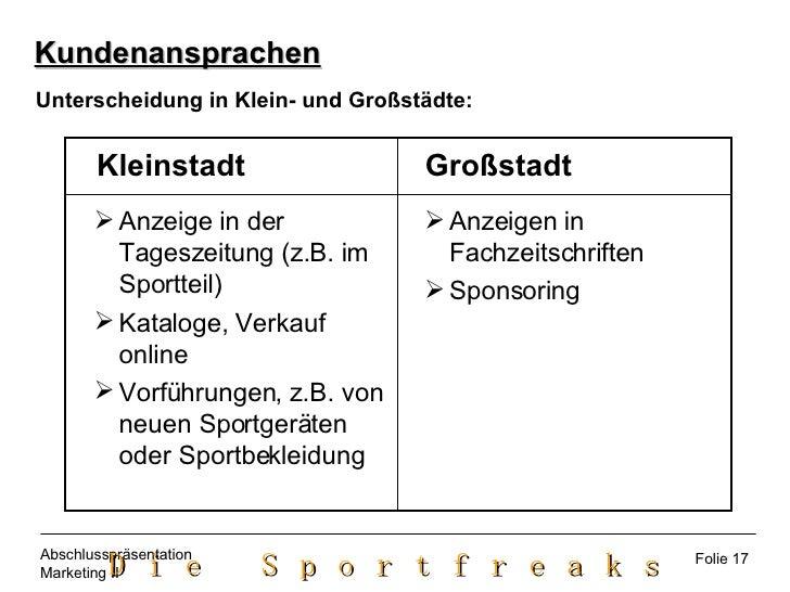 <ul><ul><li>Anzeige in der Tageszeitung (z.B. im Sportteil) </li></ul></ul><ul><ul><li>Kataloge, Verkauf online </li></ul>...