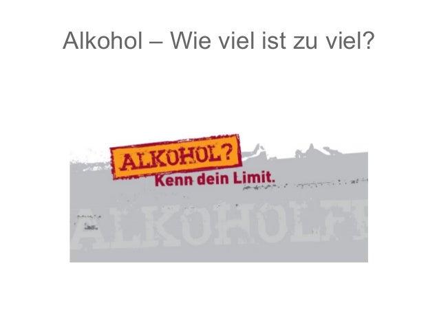Alkohol – Wie viel ist zu viel?