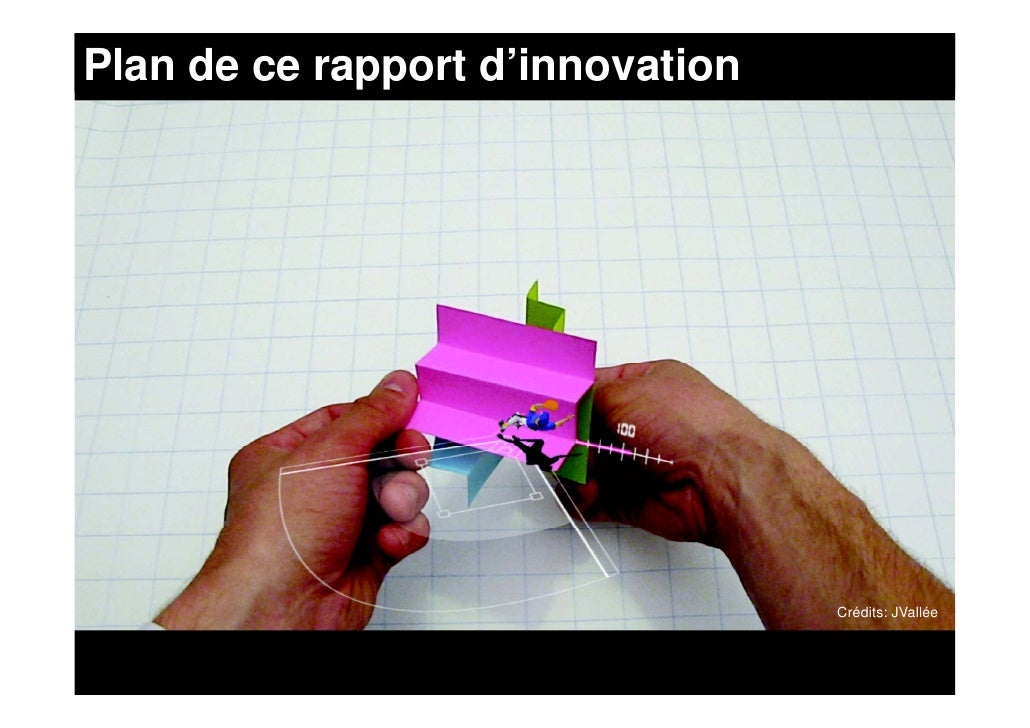 Plan de ce rapport d'innovation                                       Crédits: JVallée