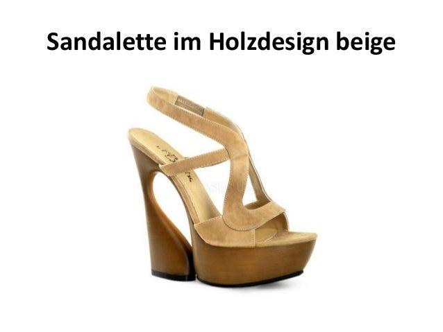 Sandalette im Holzdesign beige