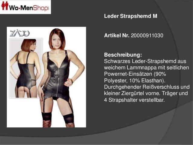 Leder Strapshemd M  Artikel Nr. 20000911030  Beschreibung:  Schwarzes Leder-Strapshemd aus  weichem Lammnappa mit seitlich...