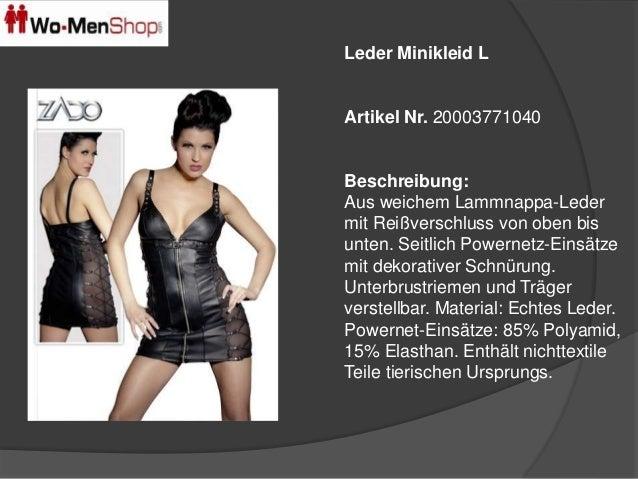 Leder Minikleid L  Artikel Nr. 20003771040  Beschreibung:  Aus weichem Lammnappa-Leder  mit Reißverschluss von oben bis  u...