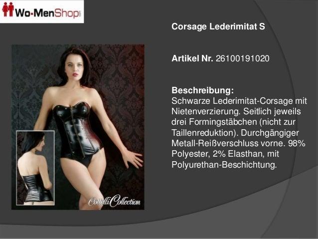 Corsage Lederimitat S  Artikel Nr. 26100191020  Beschreibung:  Schwarze Lederimitat-Corsage mit  Nietenverzierung. Seitlic...