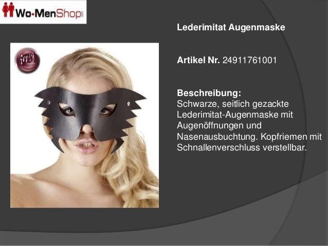 Lederimitat Augenmaske  Artikel Nr. 24911761001  Beschreibung:  Schwarze, seitlich gezackte  Lederimitat-Augenmaske mit  A...