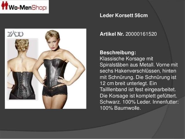 Leder Korsett 56cm  Artikel Nr. 20000161520  Beschreibung:  Klassische Korsage mit  Spiralstäben aus Metall. Vorne mit  se...