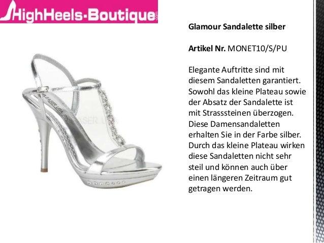 Sandaletten silber – HighHeels-Boutique.com Slide 2