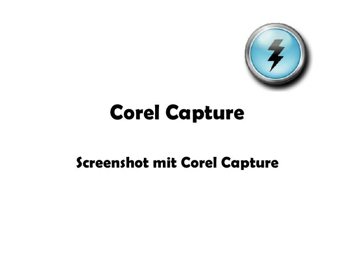 Corel Capture<br />Screenshot mit Corel Capture<br />